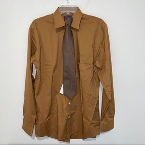 NWT Stafford Shirt & Tie Set Easy Care Broadcloth